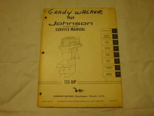 Johnson outboard motor parts 1969 johnson outboard motor service manual 115 hp sciox Image collections
